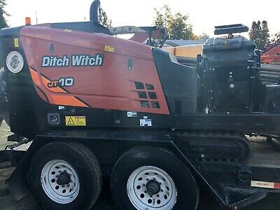 Used Ditch Witch JT10 with Mixer, trailer and tooling with only 855 hr