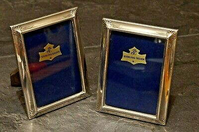 Pair Of Matching Unused Continental Sterling Silver Picture Or Photo Frames