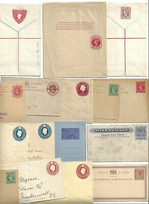 UK GB BRITISH COMMONWEALTH 1890 1950s COLLECTION OF MINT 16 POSTAL STATIONERY