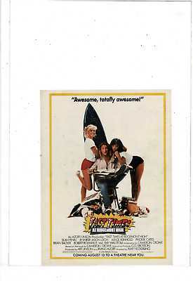 Aug 13 1982 Fast Times At Ridgemont High Movie Movie Poster Ad Print H977
