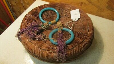 Antique Chinese Sewing Basket Glass Beads No. 51