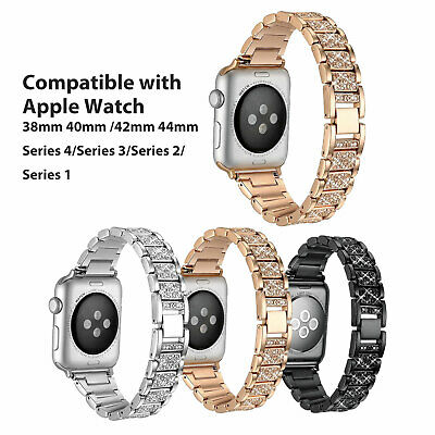 For Apple Watch Series4 3 2 1 38/42MM Stainless Steel Bracelet iWatch Band Strap