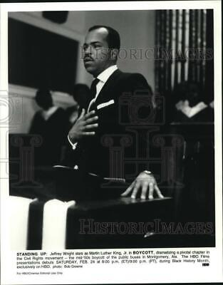 "Press Photo Jeffrey Wright, actor, stars as Martin Luther King Jr. in ""Boycott"""