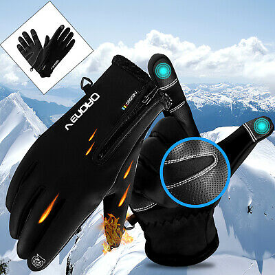 -10℃ Men Women Winter Thermal Touch Screen Gloves Ski Waterproof Outdoor Sports