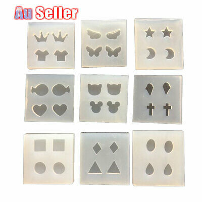 9Types Pendant Resin Silicone DIY Earing Making Mould Jewelry Mold Tool Craft
