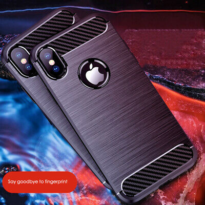 CARBON FIBRE Case For iPhone 11 / 11 Pro Max Cover Silicone Gel Shockproof TOUGH