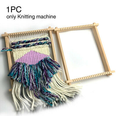 Weaving Loom Tapestry Wooden Sewing Accessories Hand Knitted Machine DIY Durable