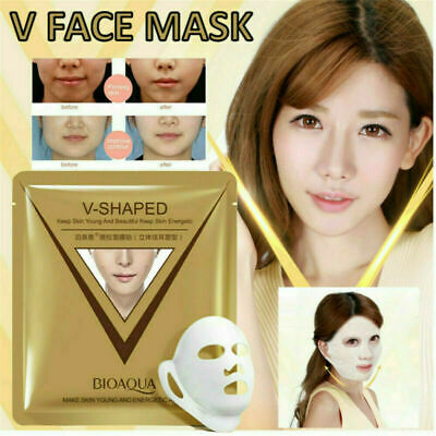 Women V-shaped Reduce Double Chin Facial Firming Slimming Treatment Face Mask FT