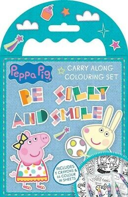 Carry Along Colouring Sets Peppa Pig Emoji Secret Life Of Pets 2 Kids Crayons