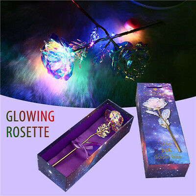 24K Gold Plated Galaxy Rose Valentine's Day Gifts Girlfriend Wife Love Presents