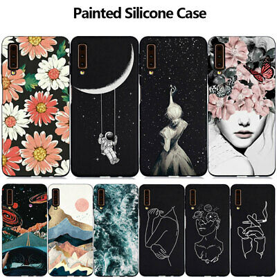For Samsung J4 J6 Plus A6 A7 A8+ 2018 Slim Painted Case Soft Silicone Gel Cover