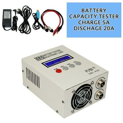Lithium/lead Acid Battery Capacity Tester Charge 20A Electronic Load 5A Dischage