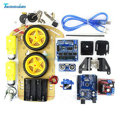 2WD Avoidance Tracking Motor Smart Robot Car Chassis Kit Ultrasonic For Arduino