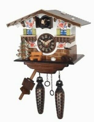 Quartz Movement Hand Painted German House Wooden Cuckoo Clock with Music Germany