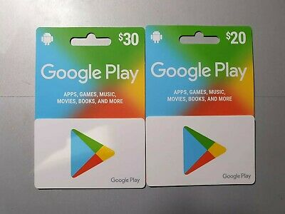 Google Play GiftCards $50 Value