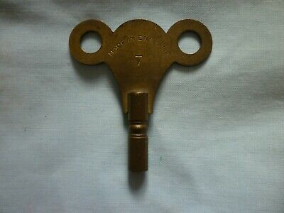 Vintage Brass Clock Key-Size 7-Made in England