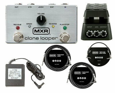 MXR M303 Clone Looper + DVP4 Volume/Expression Pedal + Power Supply + Cables