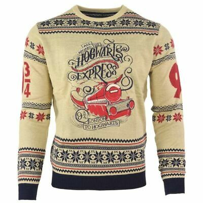 Numskull Christmas Xmas Jumper Harry Potter Hogwarts Express UK: M / US: S New