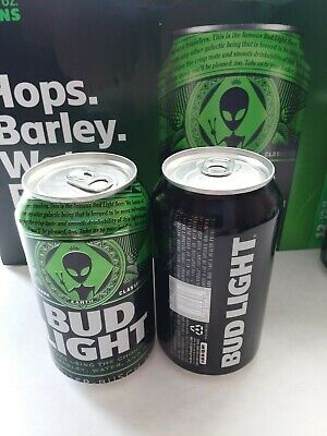 2019 Bud Light Storm Area 51 Alien Can Sealed Top Bottom Opened, Empty, Cleaned