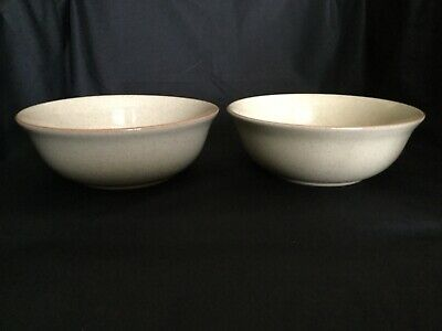 DENBY DAYBREAK 2 CEREAL SOUP BOWLS  from England Pretty & Durable!Excellent cond