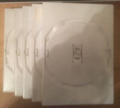 Five Genuine Empty Wii Case / Box - Spares / Replacements ~ White
