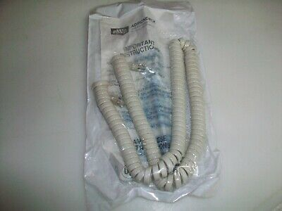 New Western Electric A T & T White Spring Handset Cord  Awc9200-12-Fd