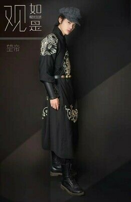 New Chinese taditional dress costome hanfu ninja cosplay with emboidary for man