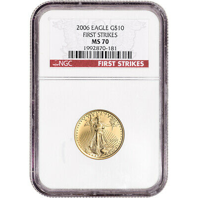 2006 American Gold Eagle 1/4 oz $10 - NGC MS70 - First Strikes