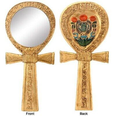 Ancient Egyptian Ankh Scarab Beetle Hand Mirror Vanity Beauty Accessory Egypt