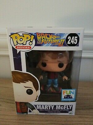 FUNKO POP! Back To The Future II Marty McFly Hoverboard #245, Fun Exclusive RARE