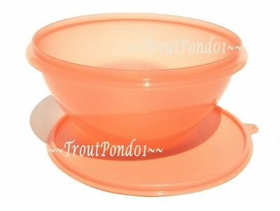 New TUPPERWARE Classic Wonderlier Nesting 7 Cup Mixing Bowl Seal Peach Coral