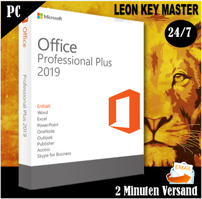 Office 2019 Professional Plus +1/5PC +Pro Plus +32&64 Bits  +ESD per email
