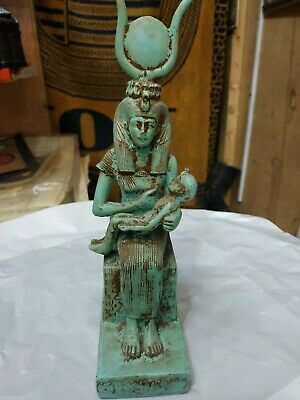 Rare Antique Ancient Egyptian StatueIs Isis beautiful breastfeed her son Horus