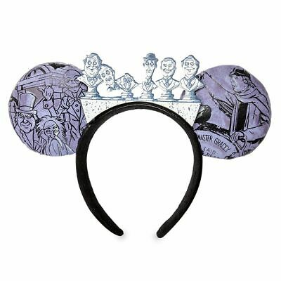 Disney Parks Haunted Mansion Grim Grinning Ghosts Singing Busts Ears Headband