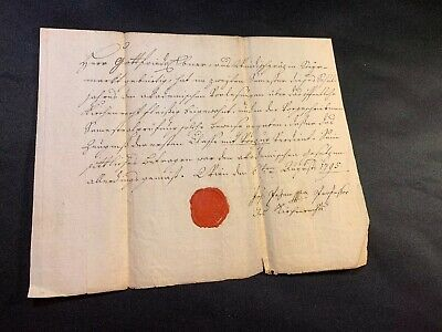 Sealed Paper Document 1795