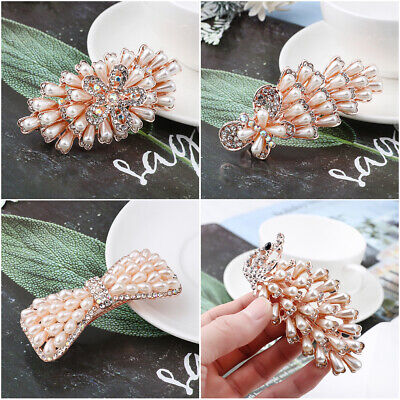 Headwear Accessories Cute Hairpin Hairgrip Crystal Hair Clip Pearl Barrettes