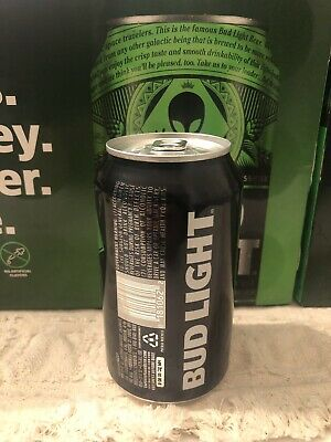 Bud Light Beer Alien Area 51 12 oz Empty from Bottom Earth Can Limited Edition