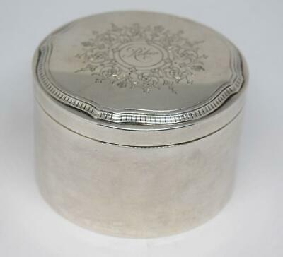 Tiffany & Co Sterling Silver Lidded Jewelry Pill Trinket Box Monogram Robin
