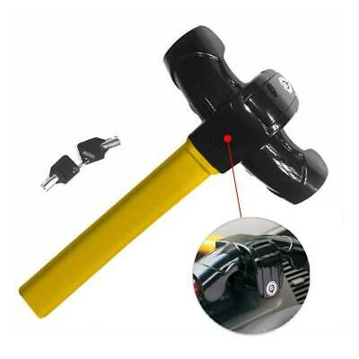 Car Auto Van Universal Anti Theft Crook Security Rotary Steering Wheel Lock uk