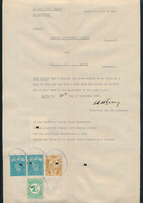 "AUSTRALIA: County Court Melbourne ""SCARCE 1940 COURT NOTICE"" + Duty Stamps"