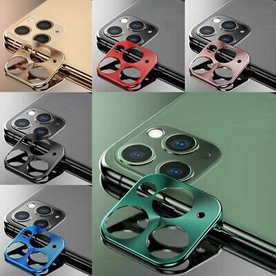 For iPhone 11 Pro Max Metal Rear Camera Lens Case Full Cover Protector Ring Case