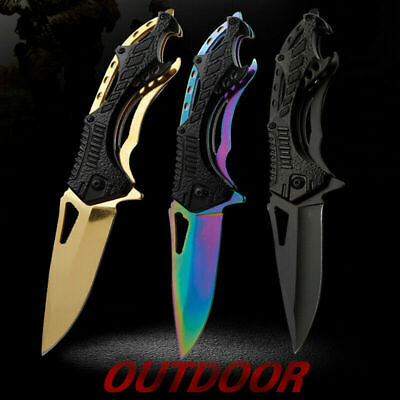 Outdoor Knives Hunting Tactical Survival Folding Blade Knife Pocket Camping