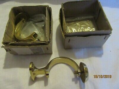 Pair  Vintage Curtain Pole Brackets (52mm diameter pole) in original boxes
