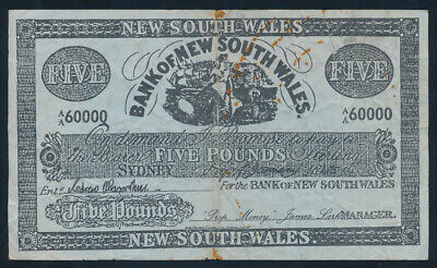 "Bank of New South Wales 1845 £5 Sydney used in FILM ""Robbery Under Arms"""