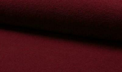 Luxury 100% Boiled Wool Fabric Material – WINE