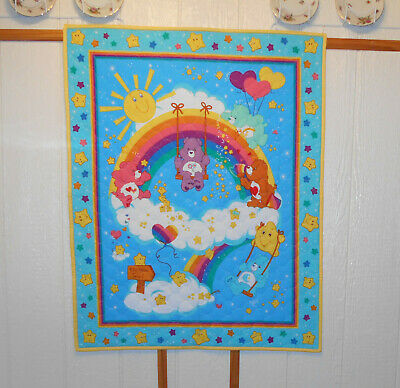 """Finished """"Care Bears"""" Baby Quilt 35"""" X 44"""""""