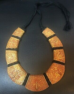 Afghanistan old necklace gold plated silver handmade very beautiful necklace ant