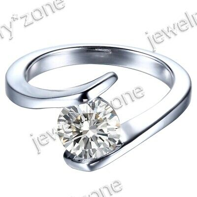 Hot-Saling Unique Engagement Solitaire Ring & Sterling 925 Silver Cubic Zirconia