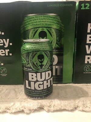 Bud Light Beer Alien Area 51 12 oz from Earth Can Limited Edition.