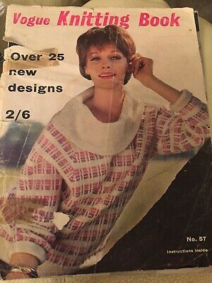 Vintage Vogue Knitting Book Magazine  1960 With 25 Fashion Designs To Knit